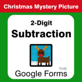 Christmas Math: 2-Digit Subtraction - Mystery Picture - Google Forms