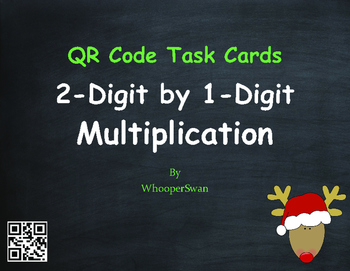Christmas Math: 2-Digit by 1-Digit Multiplication QR Code
