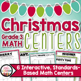Christmas Math 3rd Grade - Christmas Centers & Christmas Activities