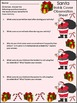 Christmas Math Activities: Santa Roll & Cover Christmas Math Center Activity