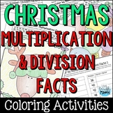 Christmas Math: Multiplication and Division Facts Color by Number