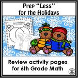 6th Grade Christmas Math