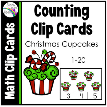 Christmas Math (Counting Clip Cards) Cupcakes