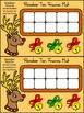 Christmas Activities: Reindeer Christmas Ten Frames Math A