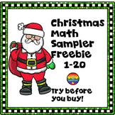 #JollyGoodFreebie Christmas Math Sampler for Counting