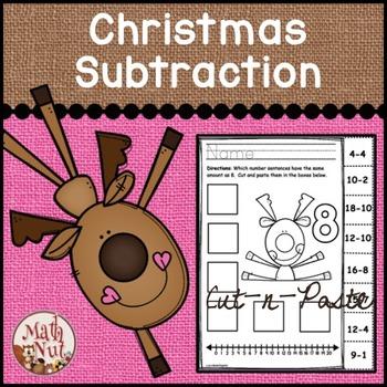 "Christmas Math ""Subtraction"""