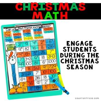 Christmas Math Exponents Activities