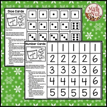 Christmas Number Bonds | Mats Kids Can Color
