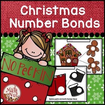 "Christmas Math ""Number Bonds"" (Mats Kids Can Color)"