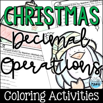 Christmas Math: Decimal Operations Color by Number