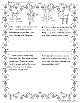 Christmas Math Worksheets : Christmas Math Word Problems!