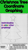 Christmas Tree Math Activity - Coordinate Graphing Picture and Ordered Pairs