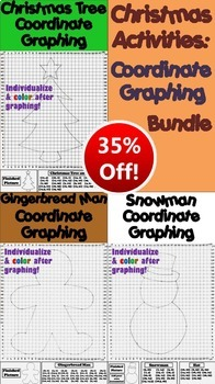 Christmas Math Activities Bundle: Coordinate Graphing and Ordered Pairs