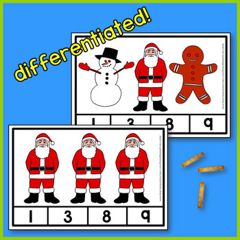 Christmas Count and Clip - A Christmas Math Center