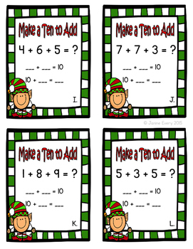 Christmas: Math Tub and Center Activities