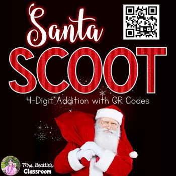 Christmas Math - 4-digit Addition with QR Codes