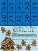 Christmas Math Activities: Gingerbread Men Christmas Ten Frames Math Activity