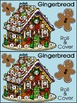 Christmas Math Activities: Gingerbread House Roll & Cover Christmas Math Center