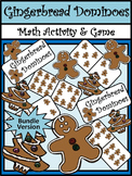 Christmas Math Activities: Gingerbread Men Christmas Dominoes Game Bundle