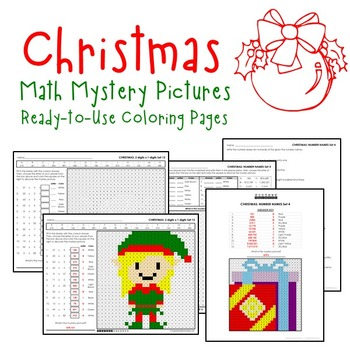 Christmas Math Activities and Christmas Math Worksheets for Math Centers