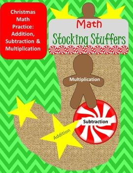 Christmas Math Stocking Stuffers ~ Addition, Subtraction a
