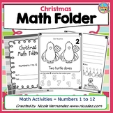 Christmas Math Worksheets - Kindergarten Activities {Numbers 1 to 12}