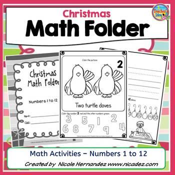 christmas math worksheets kindergarten teaching resources  teachers   christmas math worksheets  kindergarten activities numbers  to