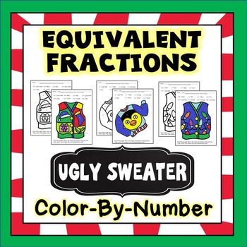 Christmas Math - Equivalent Fractions