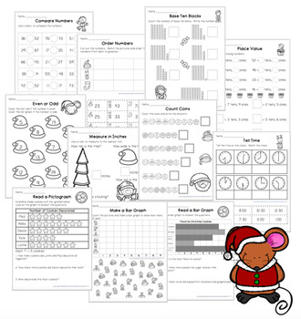 Christmas Math Worksheets First Grade
