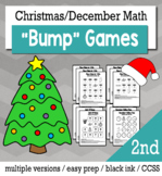 Christmas Math 2nd Grade+ Bump Games Bundle