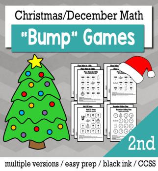 Christmas Math 2nd Grade+ Bump Games Bundle