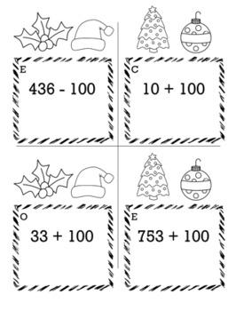 Christmas Math 2nd Grade Scavenger Hunt Game Bundle