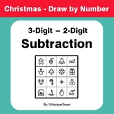 Christmas Math: 3-Digit - 2-Digit Subtraction - Math & Art