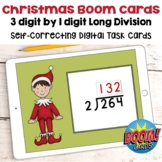 Christmas BOOM Cards - 3 Digit Long Division Digital Task Cards