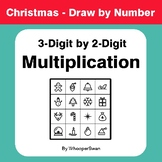 Christmas Math: 3-Digit by 2-Digit Multiplication - Math & Art - Draw by Number