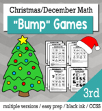 Christmas Math 3rd Grade+ Bump Games Bundle