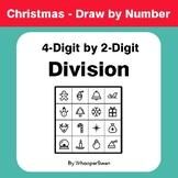 Christmas Math: 4-Digit by 2-Digit Division - Math & Art -