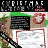 Digital and Print Christmas Math Word Problems 4th Grade M