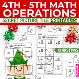 Christmas Math 4th-5th Secret Picture Tile Printables