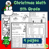 Christmas Math 5th Grade