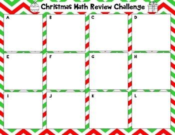 Christmas Math: A Fourth Grade Math Review