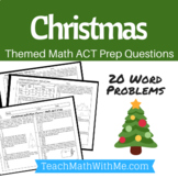 Christmas Math ACT Prep Worksheet - Practice Questions ACT Math