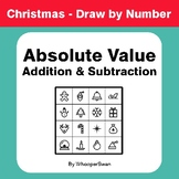 Christmas Math: Absolute Value - Addition & Subtraction - Draw by Number