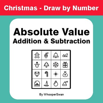Christmas Math Absolute Value Addition Subtraction Draw By