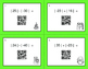 Christmas Math: Absolute Value - Addition & Subtraction QR Code Task Cards