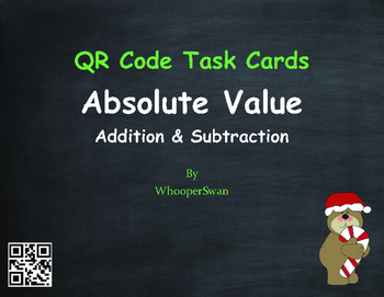 Christmas Math: Absolute Value - Addition & Subtraction QR