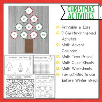 1 Christmas Math Activities