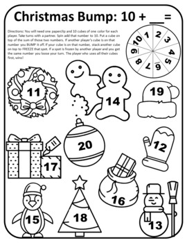 Christmas Math Activities 1st Grade Christmas Math 1st Christmas Math First Math