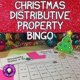 Christmas Math Distributive Property Bingo