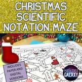 Christmas Math Scientific Notation Maze Activity